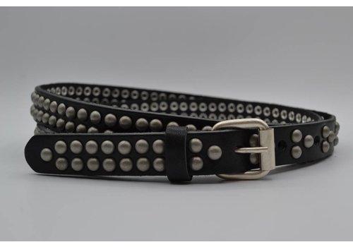 Rock 'n Rich zwarte 20mm brede riem met bolstuds