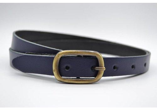 Rock 'n Rich marine blauwe 20mm brede riem met sjieke gesp