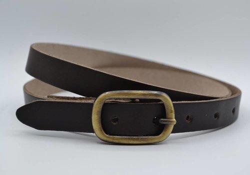 Rock 'n Rich bruine 20mm brede riem met sjieke gesp