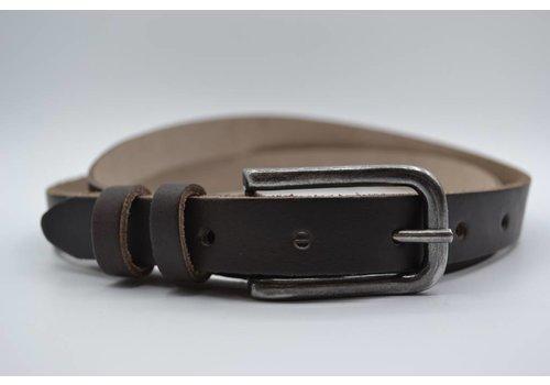 Rock 'n Rich bruine 20mm brede riem met dubbele lus
