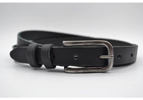 Rock 'n Rich zwarte 20mm brede riem met dubbele lus