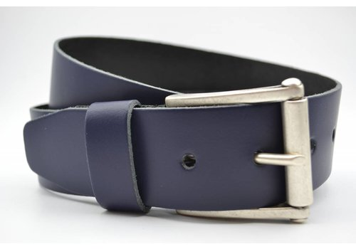 Scotts Bluf 4,5cm echt lederen casual donker blauwe riem.