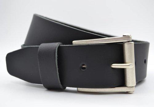 Scotts Bluf 4,5cm echt lederen casual zwarte riem.