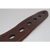 40mm brede riem van italiaans gewassen leder met strakke zwarte gesp