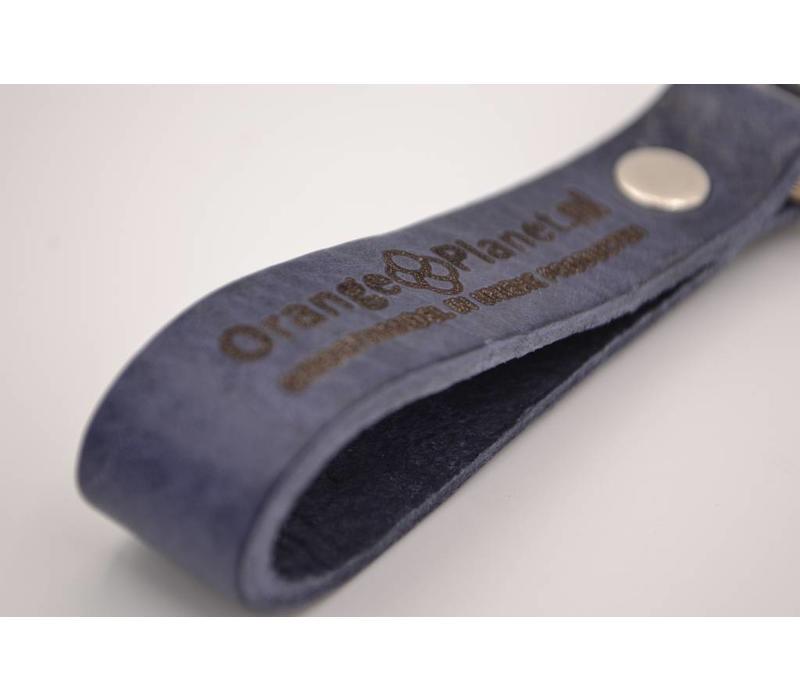 Sleutelhanger met strak design. Gemaakt van Top kwaliteit Italiaans vol nerf leder