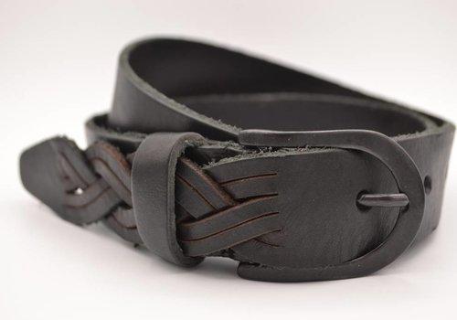 Scotts Bluf Zwarte Jeans riem met slingerpunt