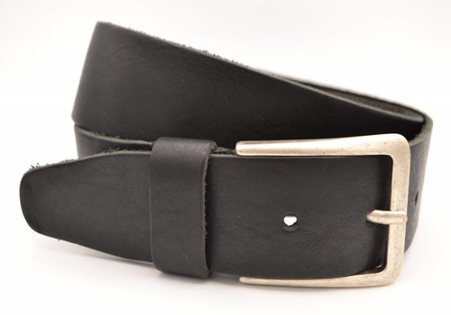 Scotts Bluf mooie zwarte vintage volnerf jeansriem