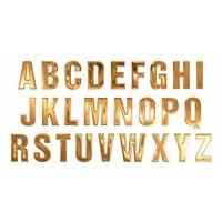 Gouden letters om op een riem te schuiven.