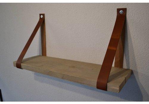 Scotts Bluf Leren Plankdragers Cognac inclusief plank
