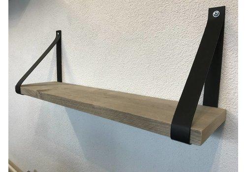 Scotts Bluf Leren Plankdragers zwart