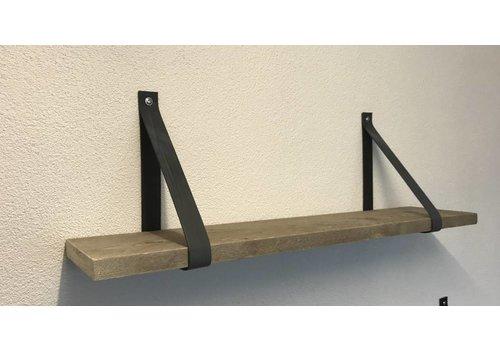 Scotts Bluf Leren Plankdragers antraciet inclusief plank