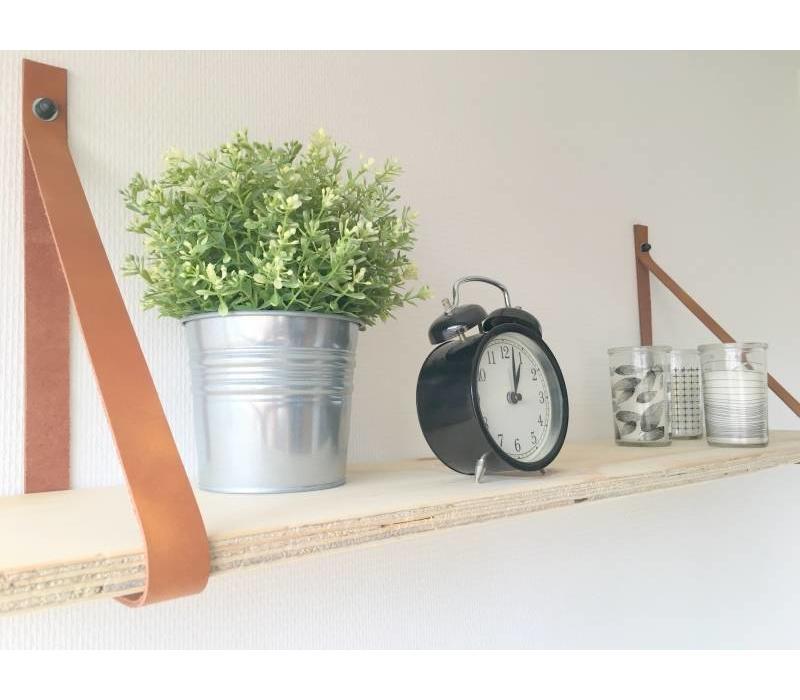 Een stoer product in onze collectie, Scotts Bluf bruine leren plankdragers!