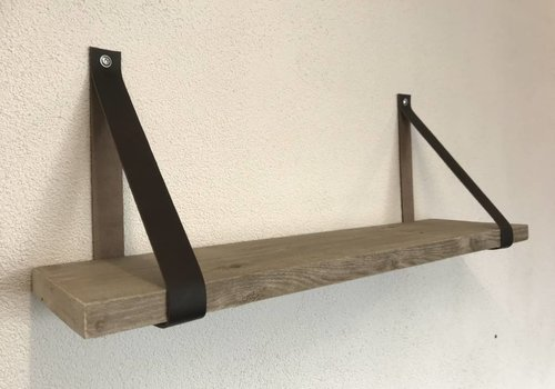 Scotts Bluf Leren Plankdragers bruin inclusief plank