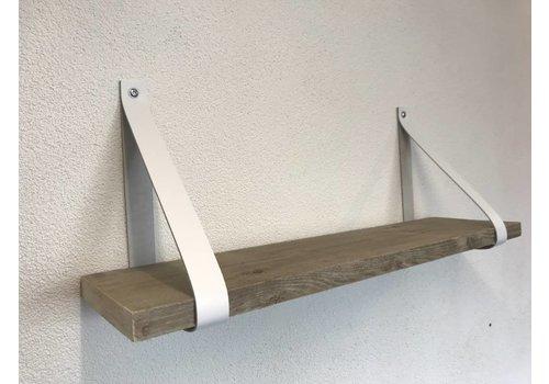 Scotts Bluf Leren Plankdragers wit