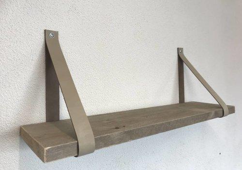 Scotts Bluf Leren Plankdragers ecru