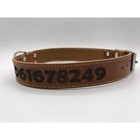 Halsband met naam en telefoonnummer