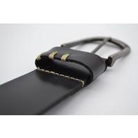 zwarte riem van Italiaanse topkwaliteit en leuke details.