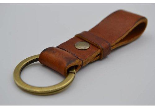 Scotts Bluf Cognac vintage sleutelhanger met naam of logo