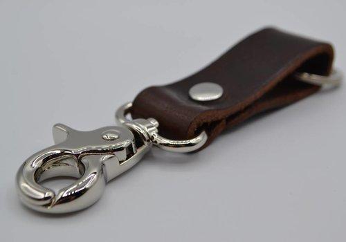 Scotts Bluf Moderne bruine sleutelhanger met naam of logo