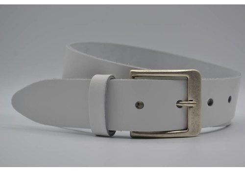 Big Belts witte extra lange riemen op maat