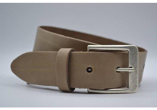 Big Belts taupe extra lange riemen op maat
