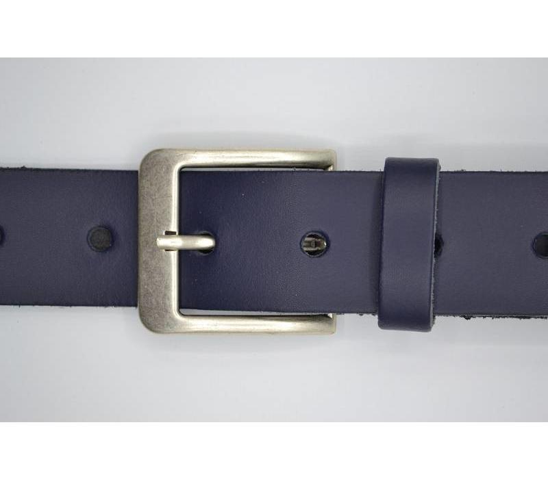 Deze 4cm brede donker blauwe riem wordt speciaal voor u op maat gemaakt. - Copy