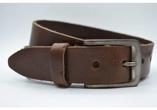 Big Belts extra lange bruine damesriem op maat