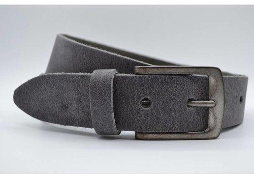 Big Belts extra lange grijze damesriem op maat