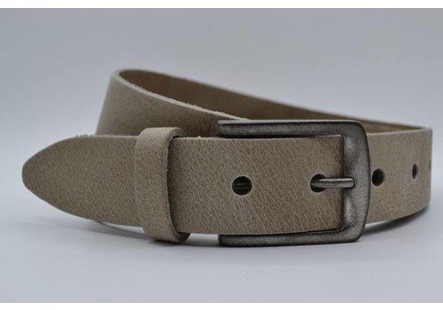 Big Belts extra lange taupe damesriem op maat