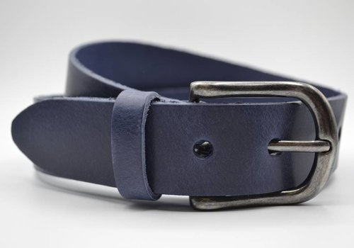 Big Belts Blauwe extra lange herenriem