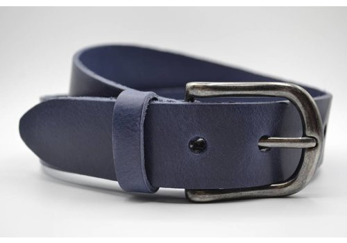 Big Belts Blauwe extra lange herenriem