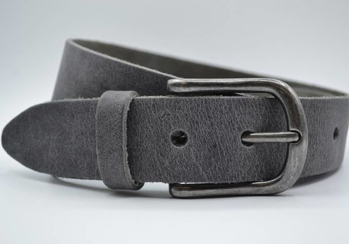 Big Belts grijze extra lange herenriem