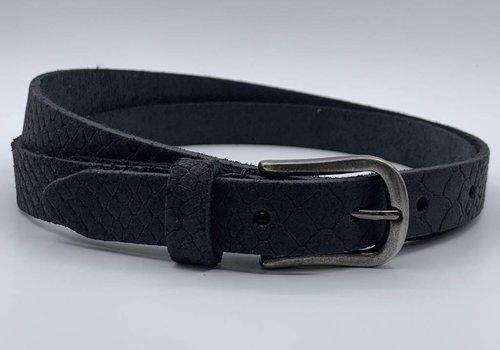 Scotts Bluf 2cm brede damesriem met zwarte slangenprint
