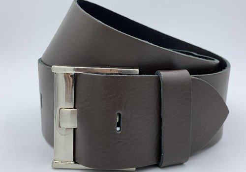 Rock 'n Rich Taille riem bruin-grijs 6cm breed