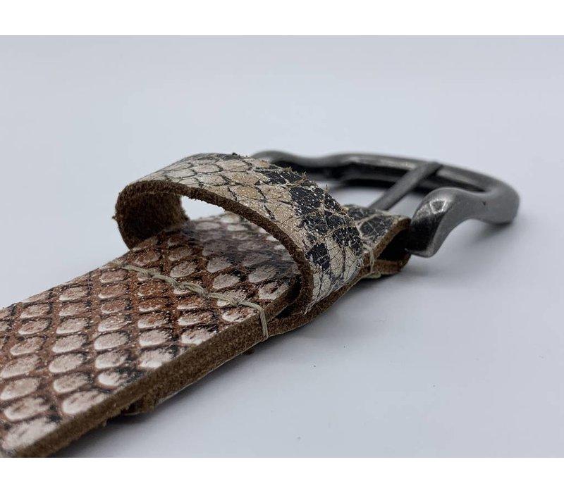 Leuke 3cm brede riem van python print leer.