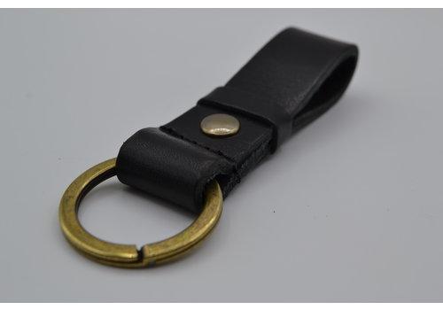 Scotts Bluf zwarte vintage sleutelhanger met naam of logo