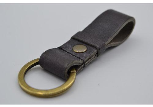 Scotts Bluf Grijze vintage sleutelhanger met naam of logo