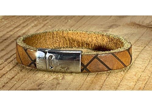 Scotts Bluf Armband vintage gelaserd met brick print