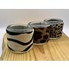 Scotts Bluf set van 3 waxinelichthouder met panter, luipard en/of zebra print