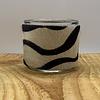 Scotts Bluf Theelichthouder gemaakt van koehuid met zebra print