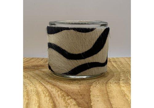 Scotts Bluf Zebra print waxinelichthouder