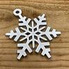Rock 'n Rich Leuke vervanger van de traditionele kerstbal is deze zilveren uitgesneden sneeuvlok.