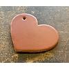 Scotts Bluf Sleutelhanger in de vorm van een hart met een zilveren sleutelring.