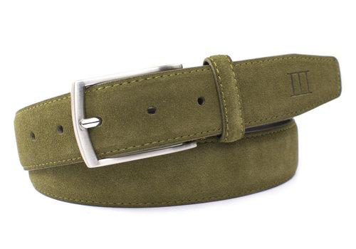 Tresanti Army groene suede 35mm brede riem