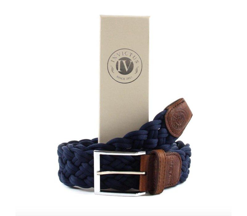 4cm brede gevlochten riem van Invictus met een rijke uitstraling en perfecte Italiaanse kwaliteit.