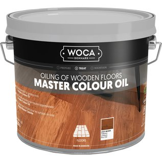 Woca Master Colour Oil Light Brown (Licht Bruin)