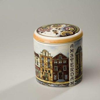 Stroopwafelkraam.COM Stroopwafelpot aardewerk - Amsterdam