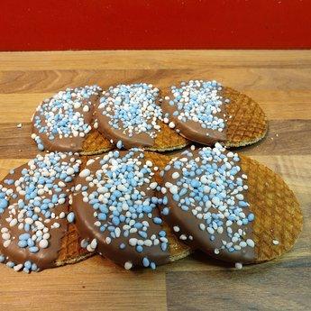 Stroopwafelkraam.COM Stroopwafel met blauwe muisjes