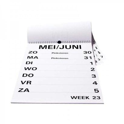 Groot letter weekkalender A4/A3