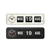 Kalenderklok tafelmodel Zwart en Wit